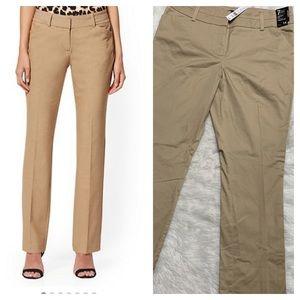 NY&Co 7th Ave straight leg khaki lean fit size 14